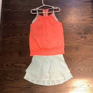 Ivivva set including a double dutch tank and skirt